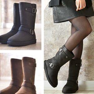 Ugg. Kensington waterproof biker boots. Black